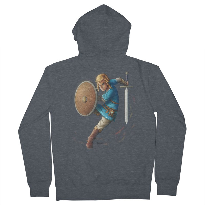Link - Breath of the Wind Women's French Terry Zip-Up Hoody by Laurie's Artist Shop