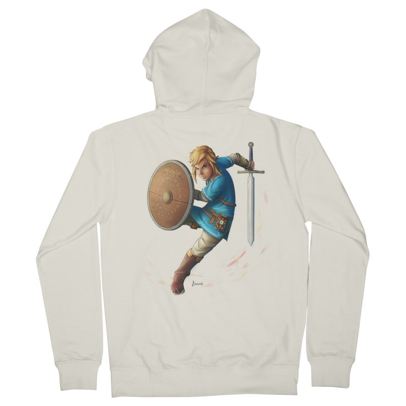 Link - Breath of the Wind Women's Zip-Up Hoody by Laurie's Artist Shop