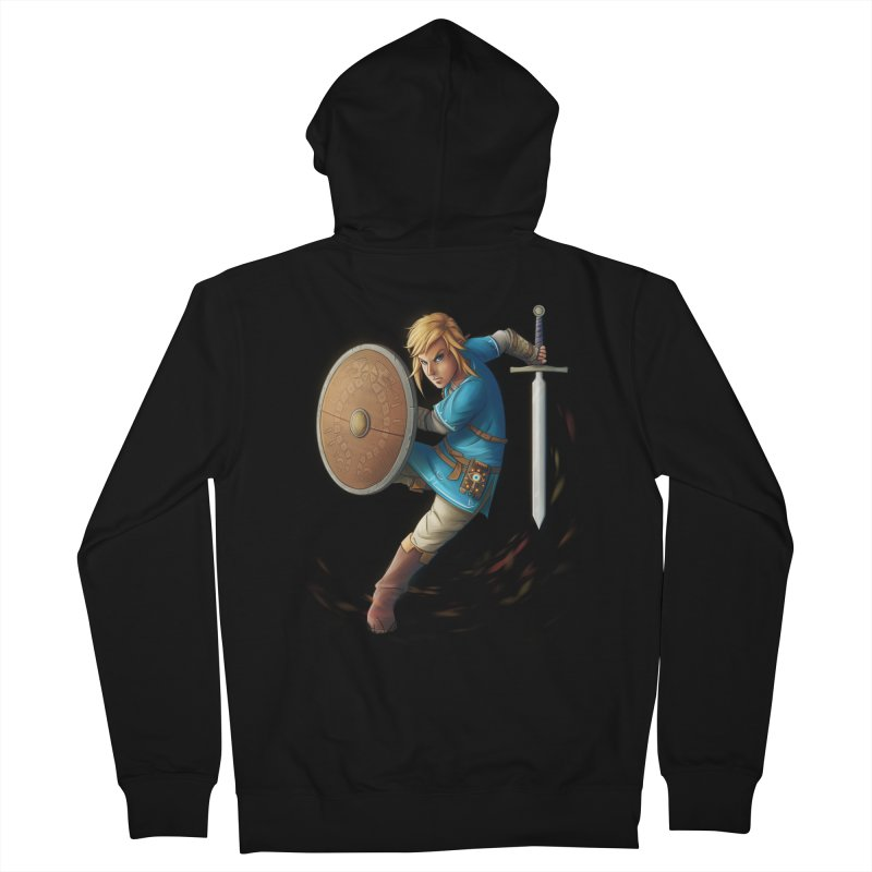 Link - Breath of the Wind Men's French Terry Zip-Up Hoody by Laurie's Artist Shop