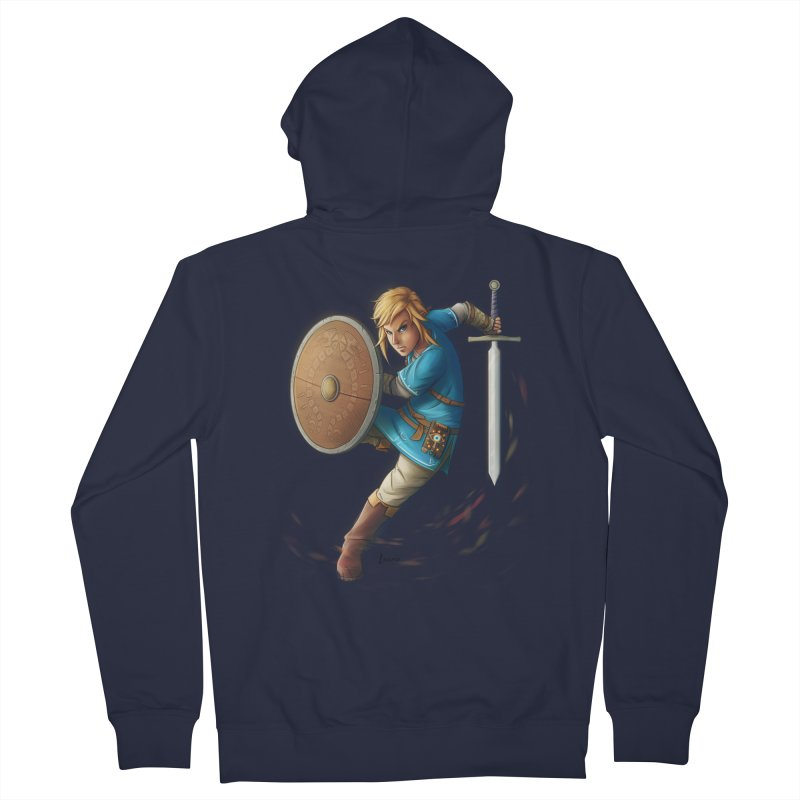 Link - Breath of the Wind Men's Zip-Up Hoody by Laurie's Artist Shop