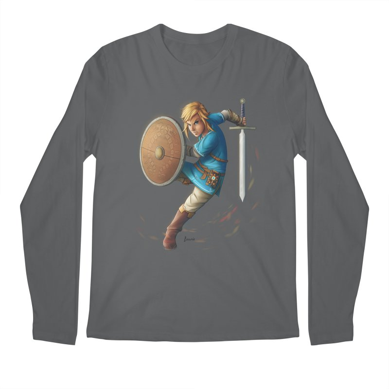 Link - Breath of the Wind Men's Longsleeve T-Shirt by Laurie's Artist Shop