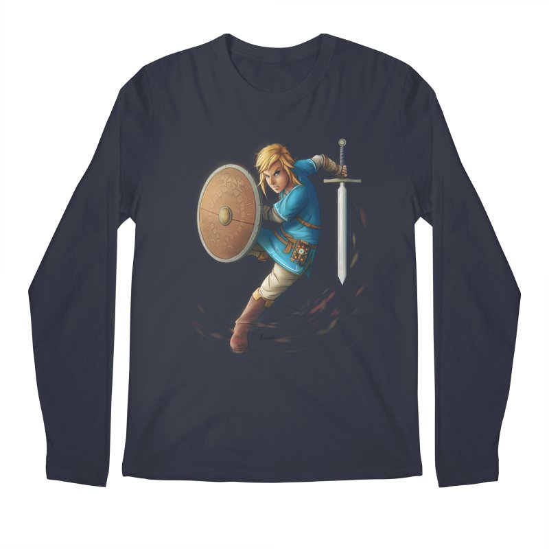 Link - Breath of the Wind Men's Regular Longsleeve T-Shirt by Laurie's Artist Shop