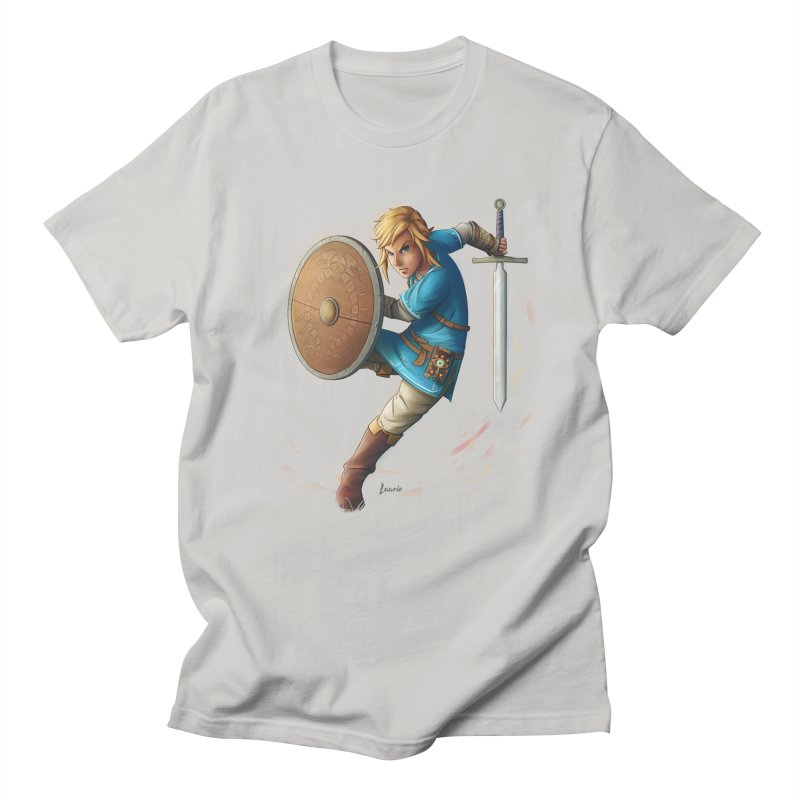 Link - Breath of the Wind Men's Regular T-Shirt by Laurie's Artist Shop