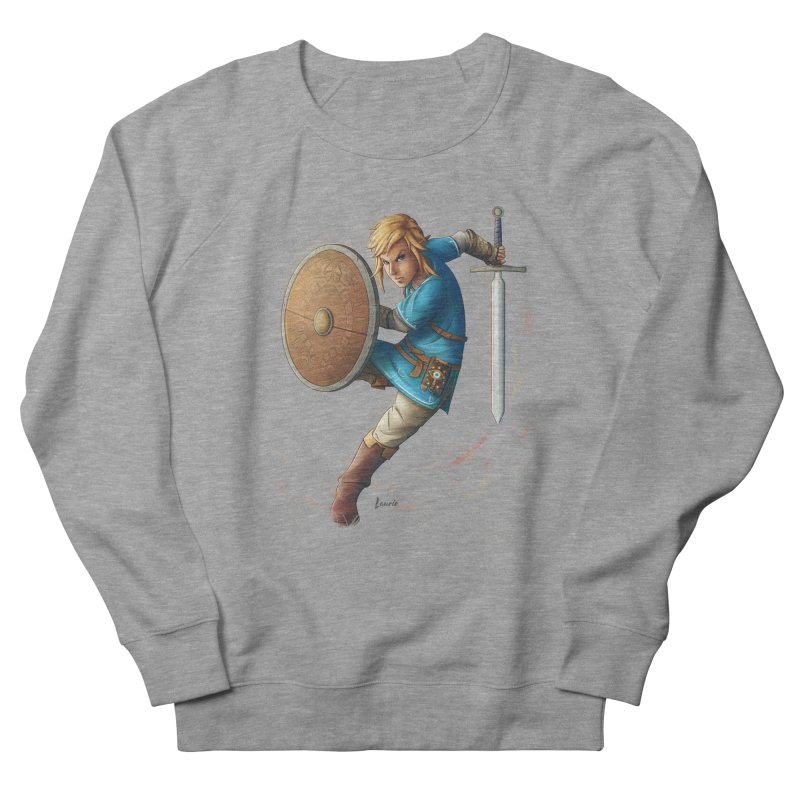 Link - Breath of the Wind Men's French Terry Sweatshirt by Laurie's Artist Shop