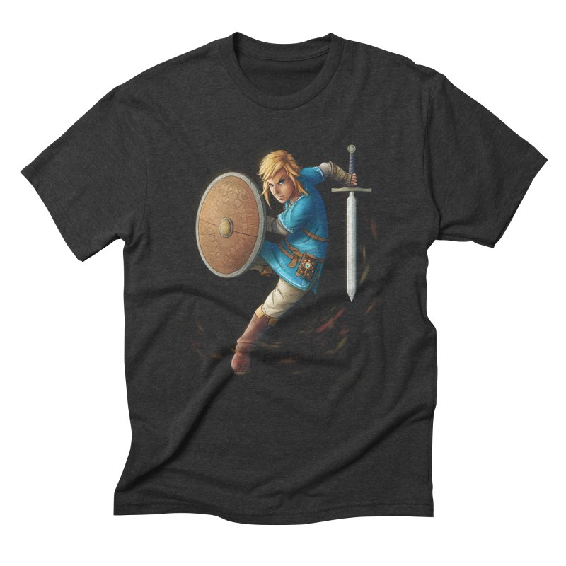 Link - Breath of the Wind Men's Triblend T-Shirt by Laurie's Artist Shop