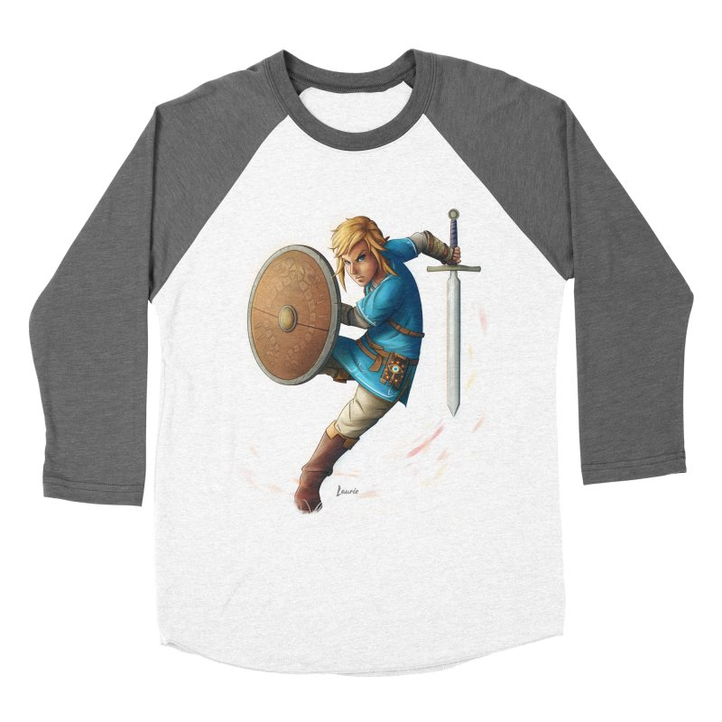 Link - Breath of the Wind Women's Baseball Triblend Longsleeve T-Shirt by Laurie's Artist Shop