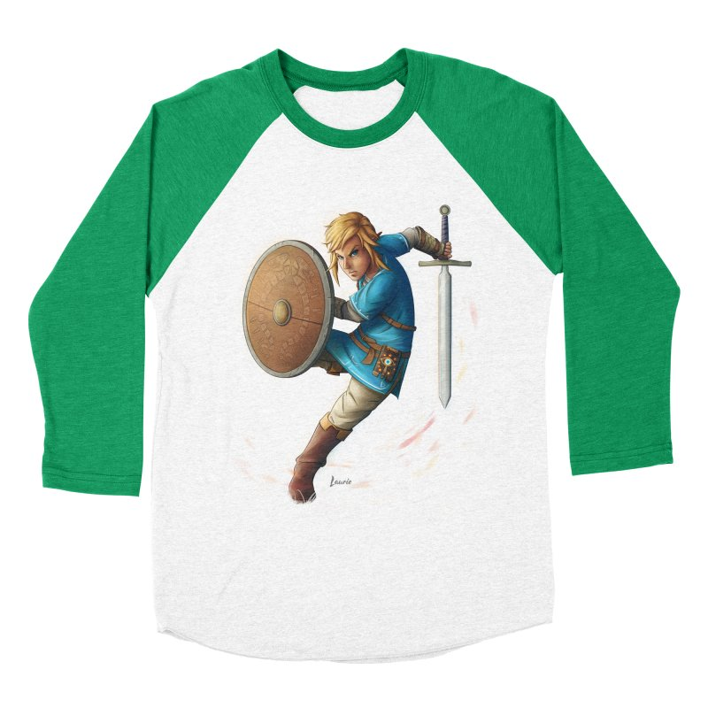Link - Breath of the Wind Women's Baseball Triblend T-Shirt by Laurie's Artist Shop