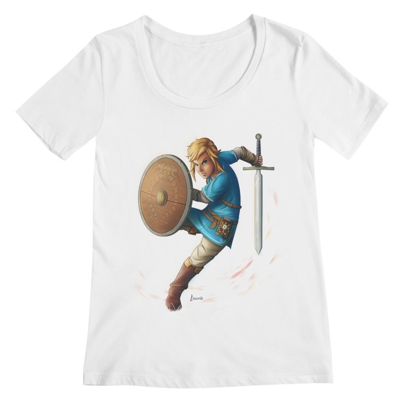 Link - Breath of the Wind Women's Scoopneck by Laurie's Artist Shop