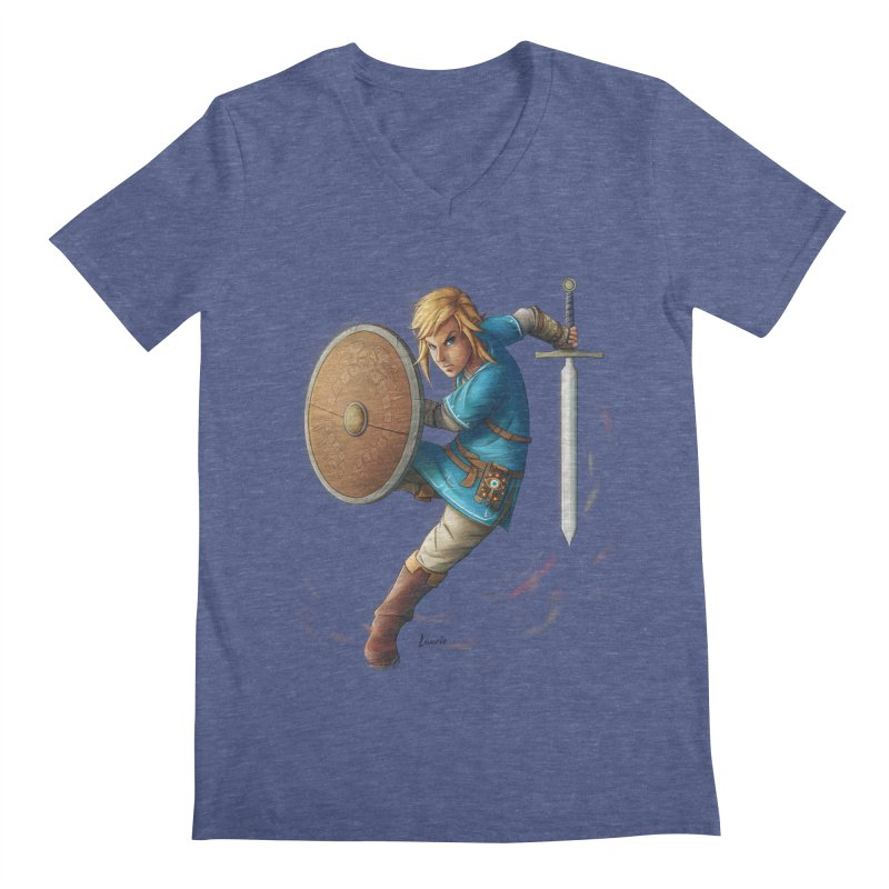 Link - Breath of the Wind Men's V-Neck by Laurie's Artist Shop