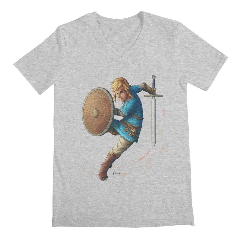 Link - Breath of the Wind Men's Regular V-Neck by Laurie's Artist Shop