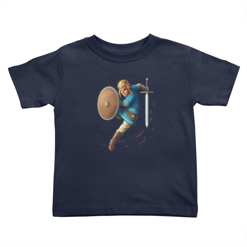 Link - Breath of the Wind Kids Toddler T-Shirt by Laurie's Artist Shop