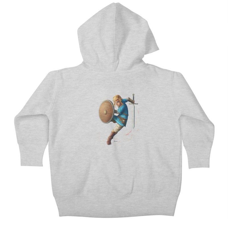 Link - Breath of the Wind Kids Baby Zip-Up Hoody by Laurie's Artist Shop