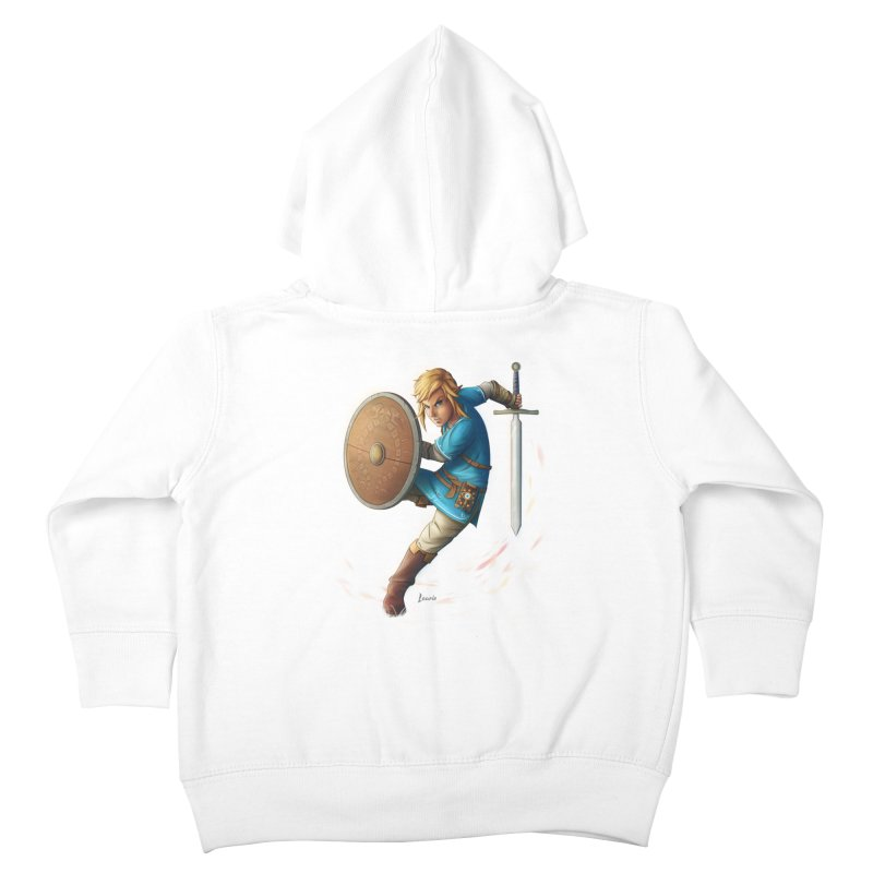 Link - Breath of the Wind Kids Toddler Zip-Up Hoody by Laurie's Artist Shop