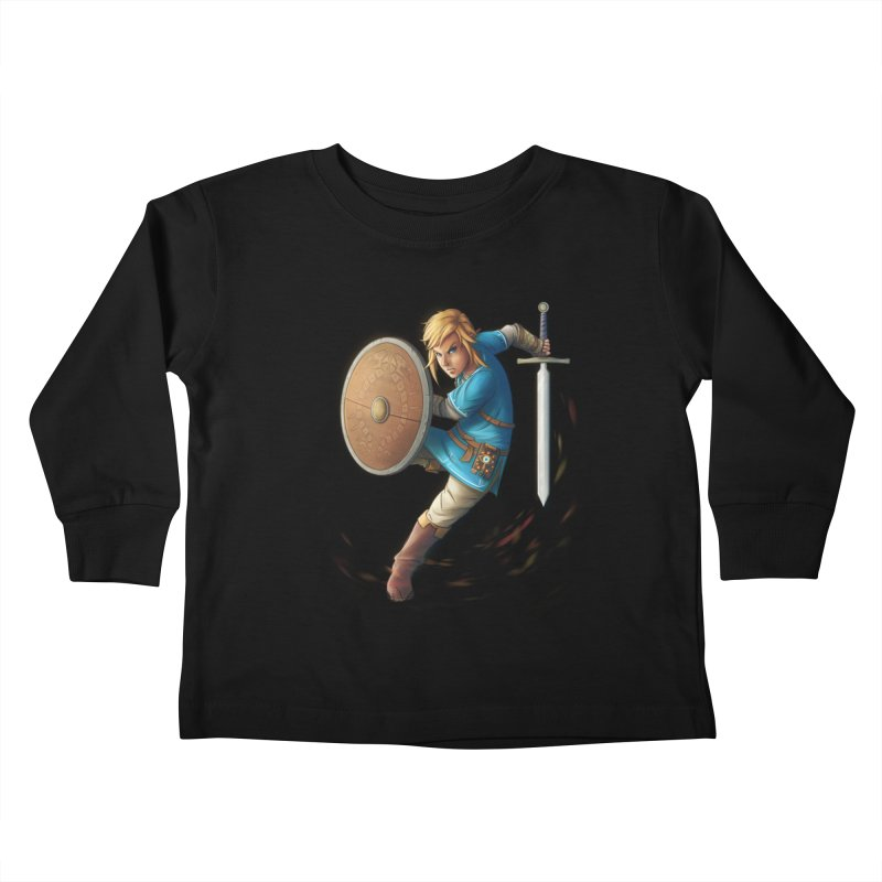 Link - Breath of the Wind Kids Toddler Longsleeve T-Shirt by Laurie's Artist Shop
