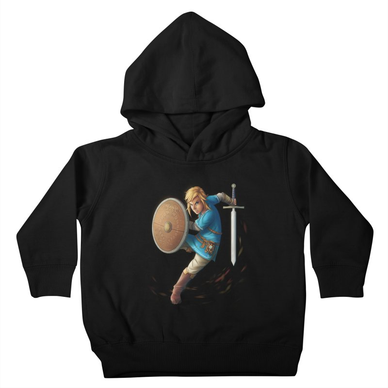 Link - Breath of the Wind Kids Toddler Pullover Hoody by Laurie's Artist Shop