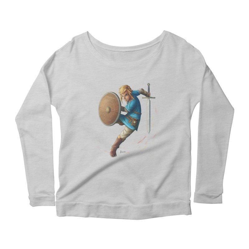 Link - Breath of the Wind Women's Scoop Neck Longsleeve T-Shirt by Laurie's Artist Shop