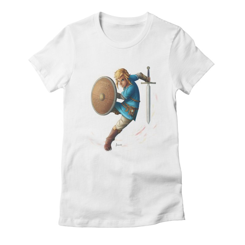Link - Breath of the Wind Women's Fitted T-Shirt by Laurie's Artist Shop