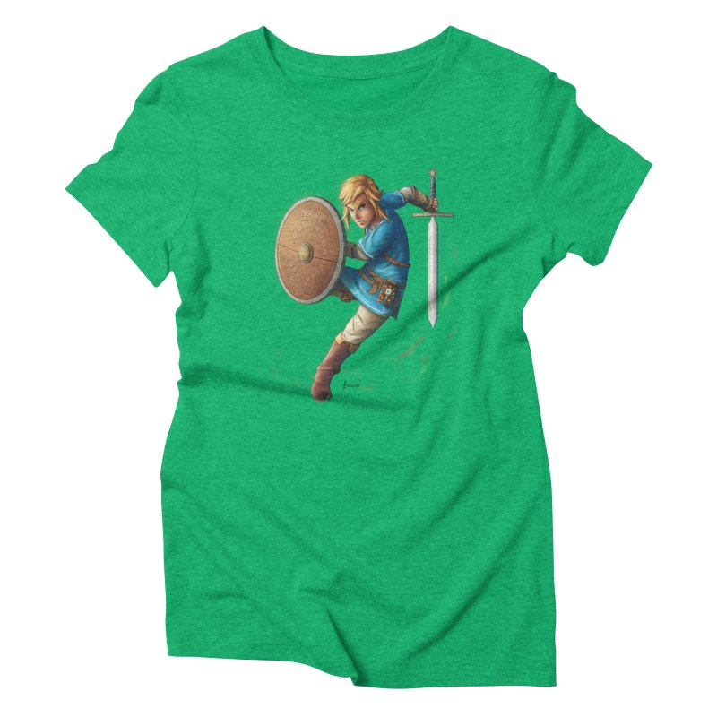 Link - Breath of the Wind Women's Triblend T-Shirt by Laurie's Artist Shop
