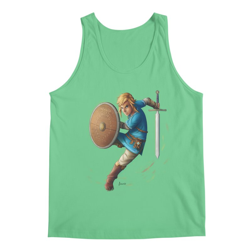 Link - Breath of the Wind Men's Regular Tank by Laurie's Artist Shop