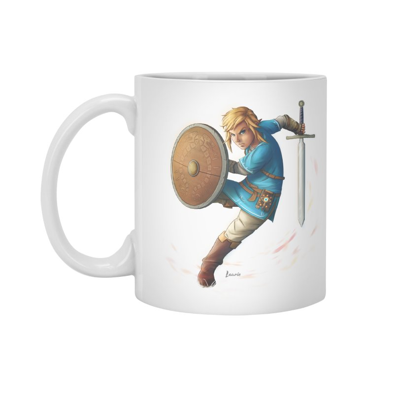 Link - Breath of the Wind Accessories Standard Mug by Laurie's Artist Shop
