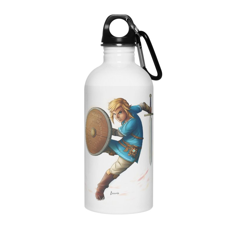 Link - Breath of the Wind Accessories Water Bottle by Laurie's Artist Shop