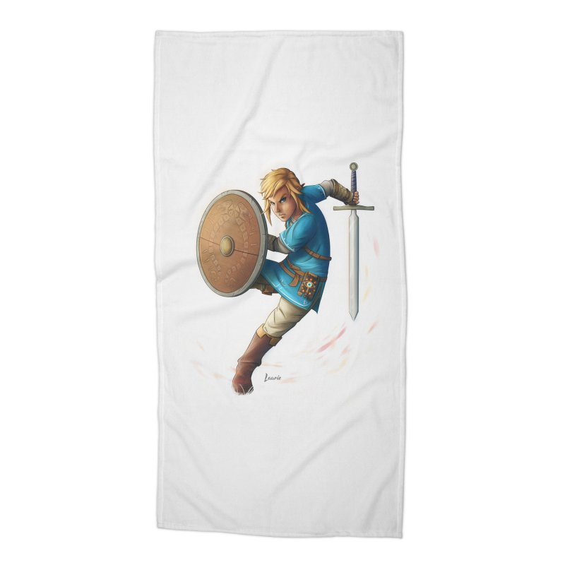 Link - Breath of the Wind Accessories Beach Towel by Laurie's Artist Shop