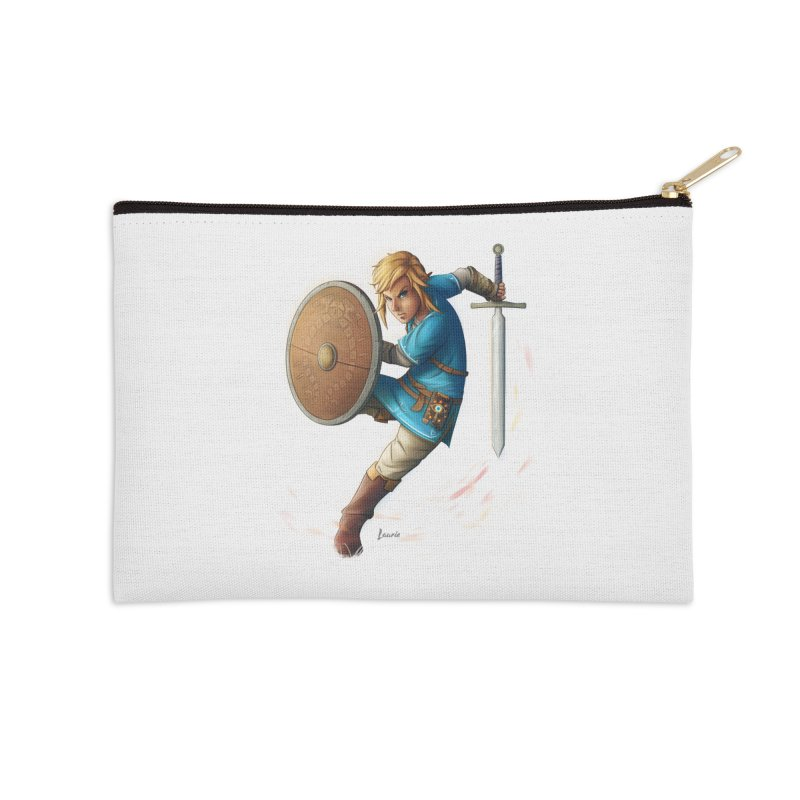 Link - Breath of the Wind Accessories Zip Pouch by Laurie's Artist Shop