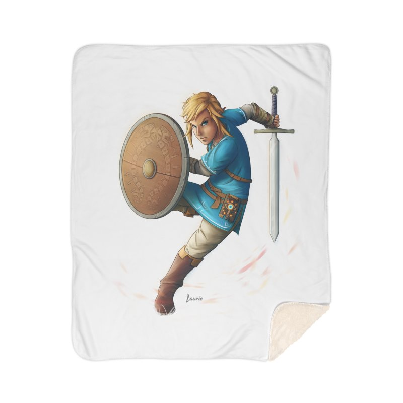 Link - Breath of the Wind Home Sherpa Blanket Blanket by Laurie's Artist Shop