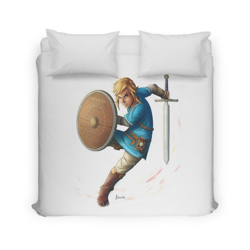 Link - Breath of the Wind Home Duvet by Laurie's Artist Shop