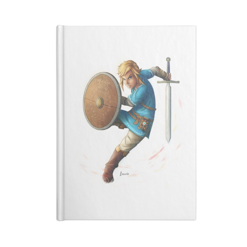 Link - Breath of the Wind Accessories Lined Journal Notebook by Laurie's Artist Shop