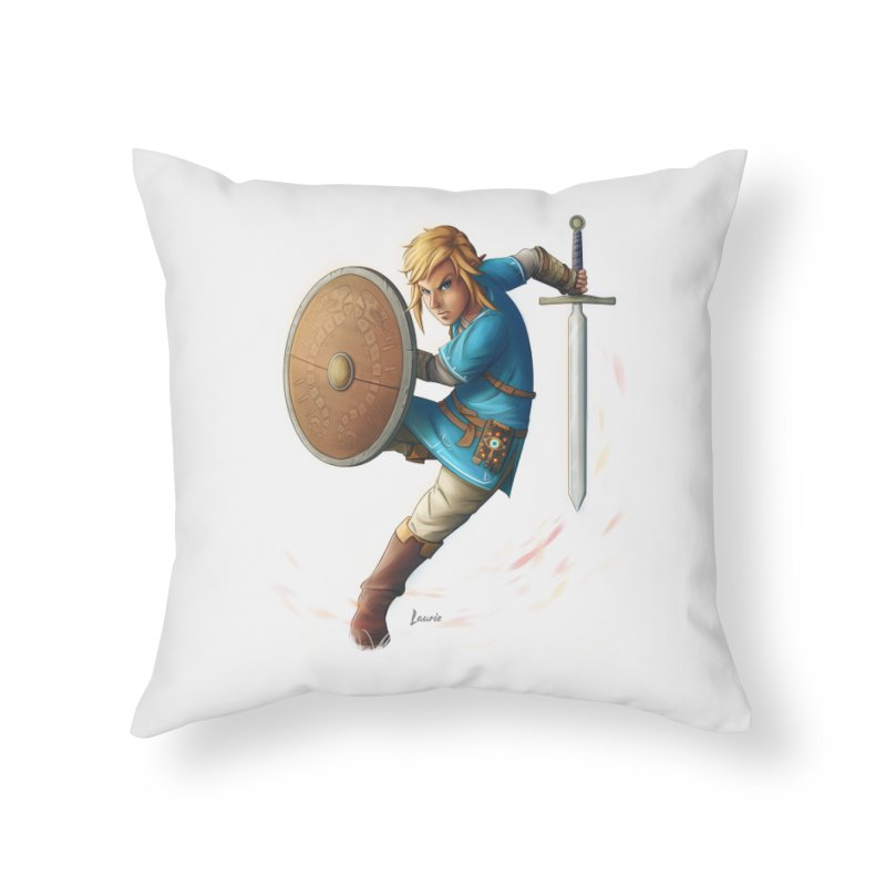 Link - Breath of the Wind Home Throw Pillow by Laurie's Artist Shop
