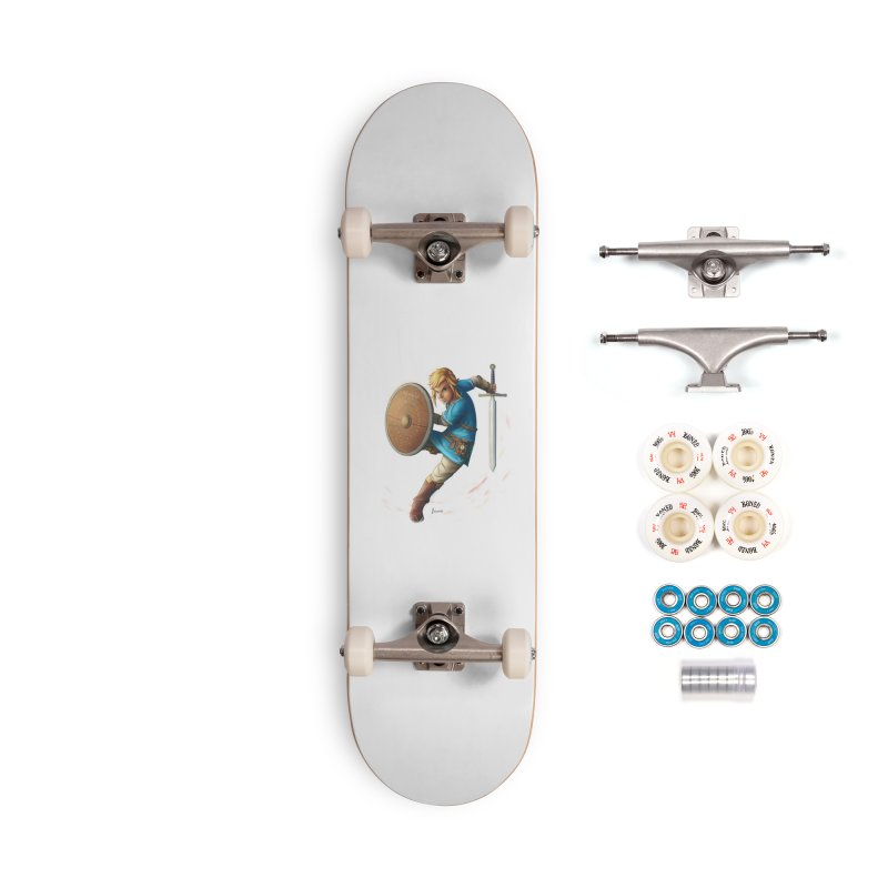 Link - Breath of the Wind Accessories Complete - Premium Skateboard by Laurie's Artist Shop