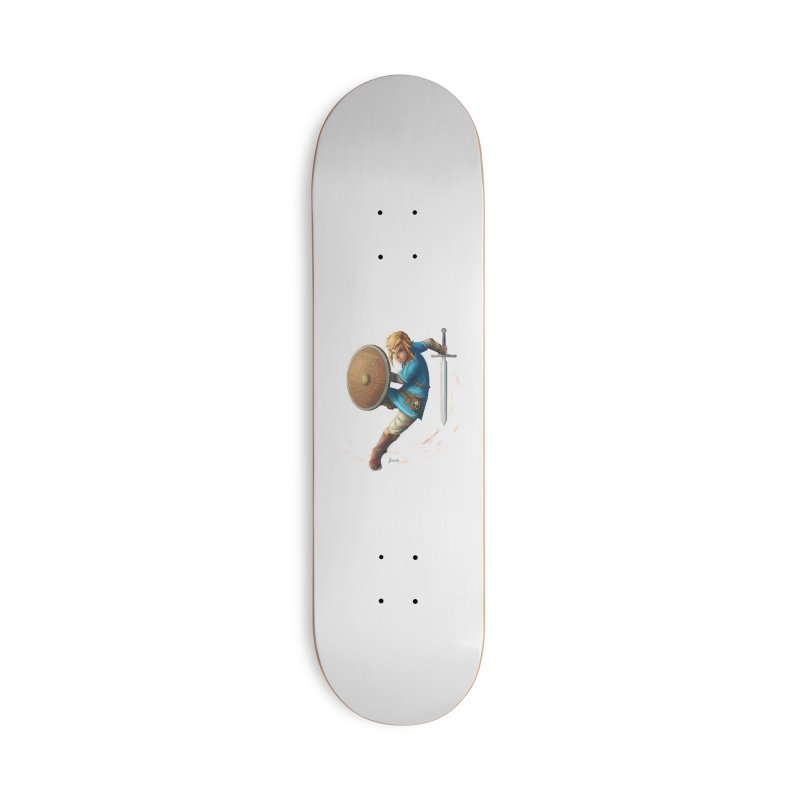 Link - Breath of the Wind Accessories Deck Only Skateboard by Laurie's Artist Shop
