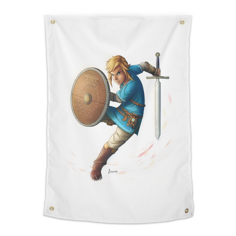 Link - Breath of the Wind Home Tapestry by Laurie's Artist Shop