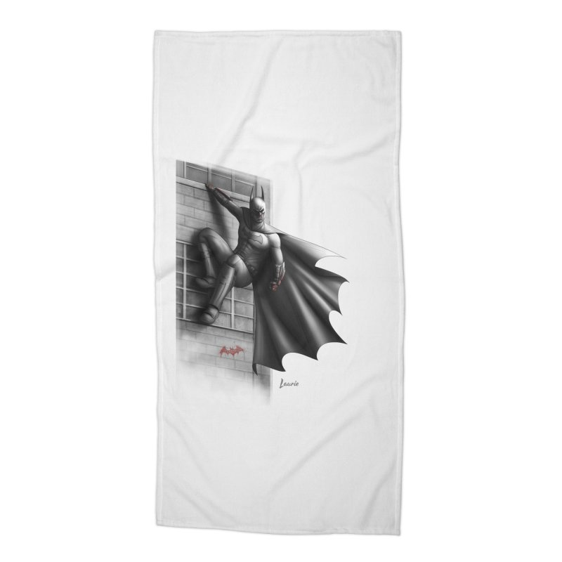 Batman - 50 Shades of Arkham Accessories Beach Towel by Laurie's Artist Shop