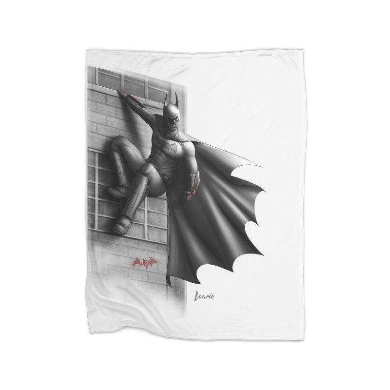 Batman - 50 Shades of Arkham Home Fleece Blanket by Laurie's Artist Shop