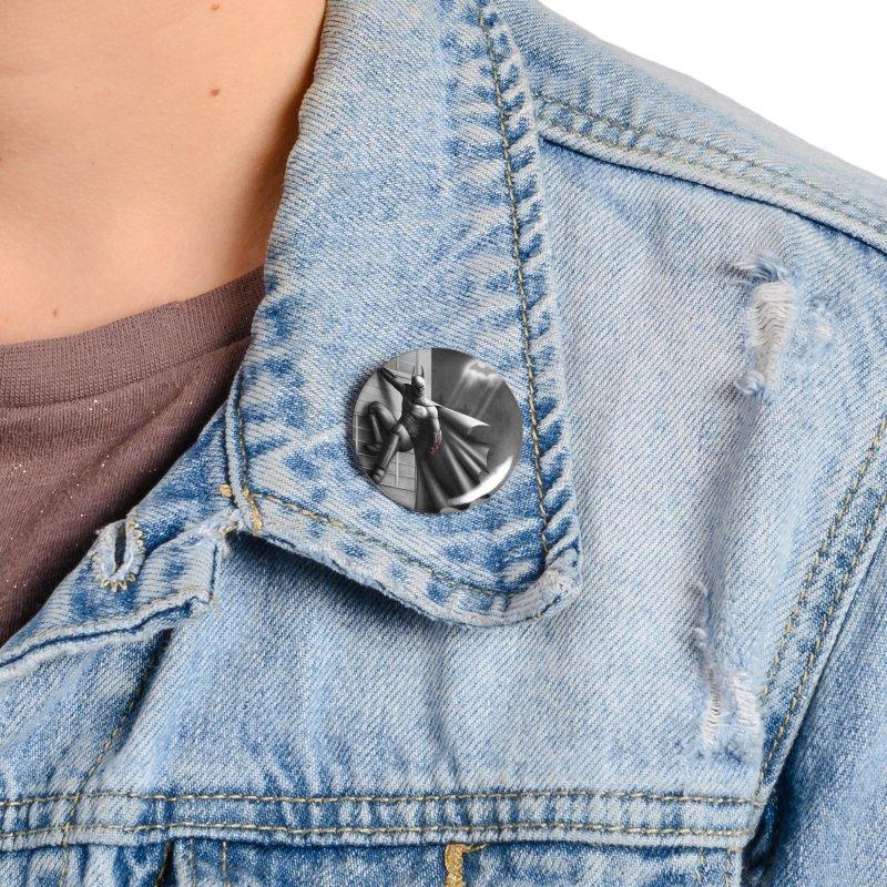 Batman - 50 Shades of Arkham Accessories Button by Laurie's Artist Shop