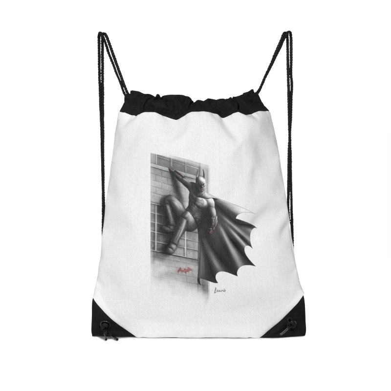 Batman - 50 Shades of Arkham Accessories Drawstring Bag Bag by Laurie's Artist Shop