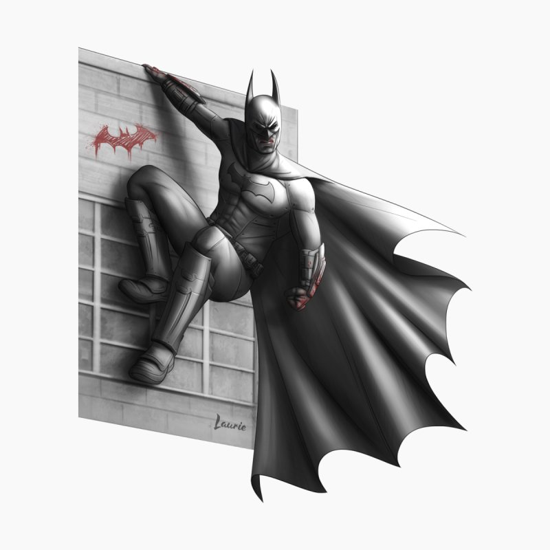 Batman - 50 Shades of Arkham Kids T-Shirt by Laurie's Artist Shop