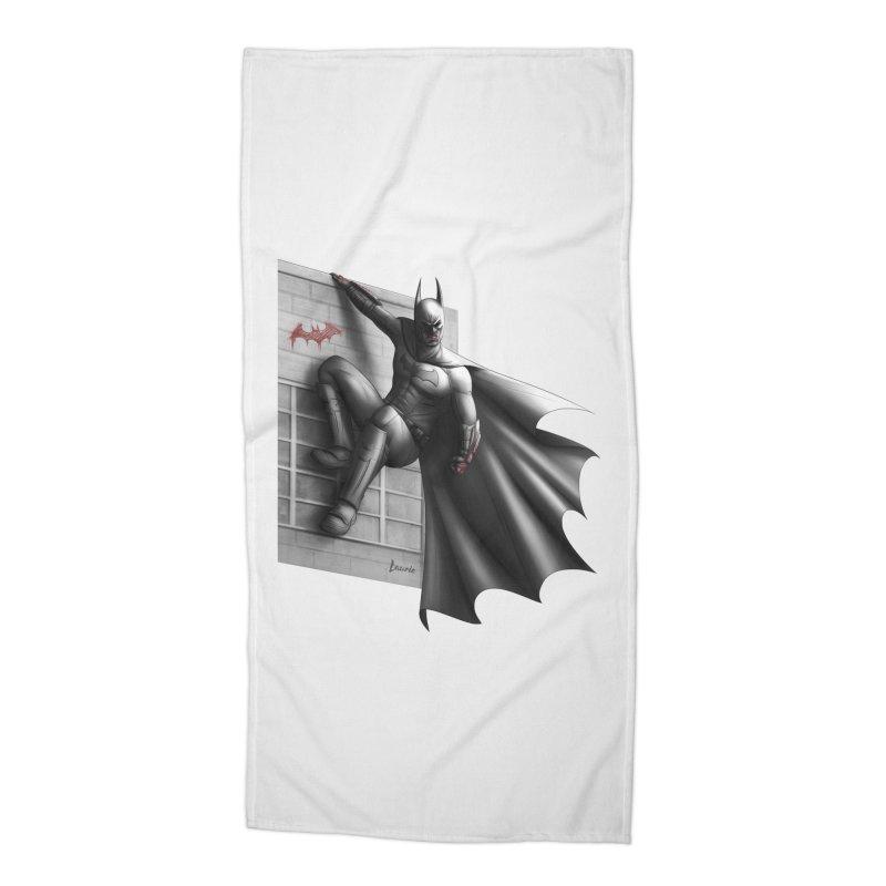 Batman - 50 Shades of Arkham Accessories Beach Towel by Laurie's Artist Shop