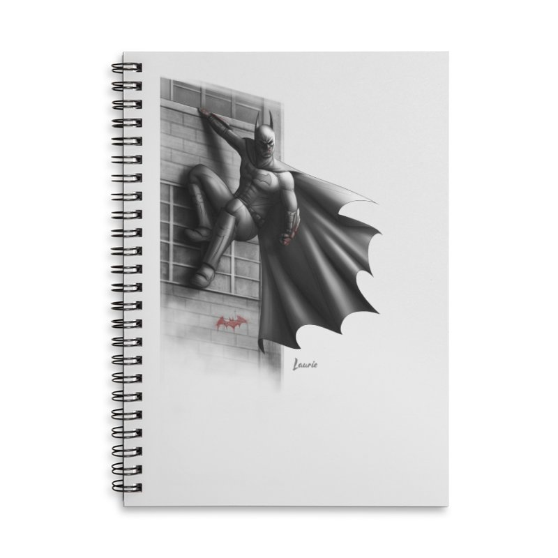 Batman - 50 Shades of Arkham Accessories Lined Spiral Notebook by Laurie's Artist Shop