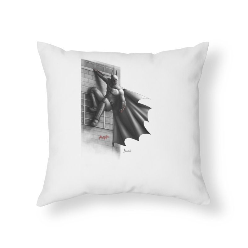 50 Shades of Arkham Home Throw Pillow by Laurie's Artist Shop