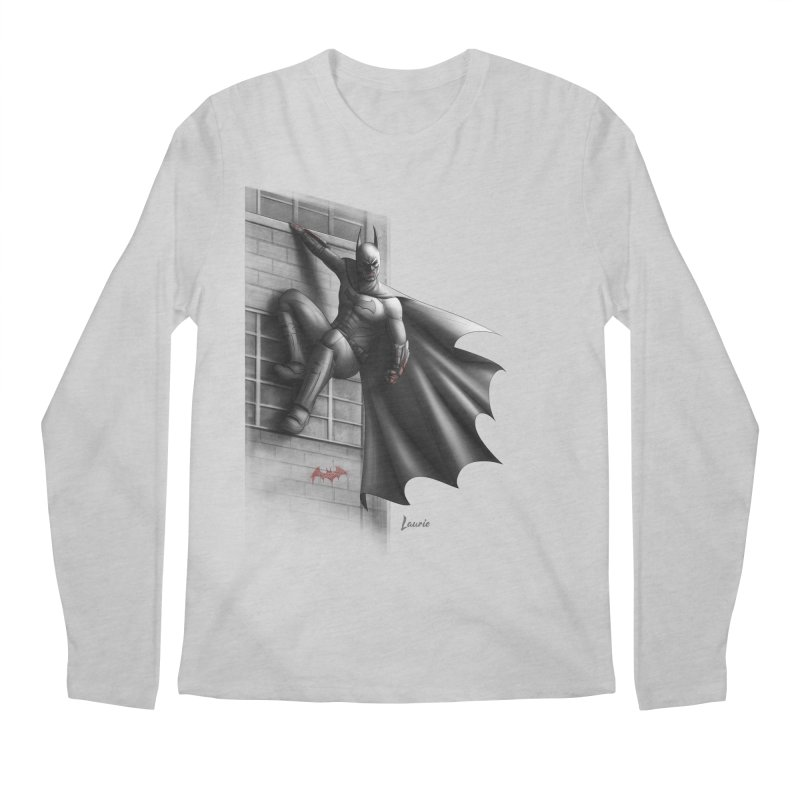 Batman - 50 Shades of Arkham Men's Longsleeve T-Shirt by Laurie's Artist Shop