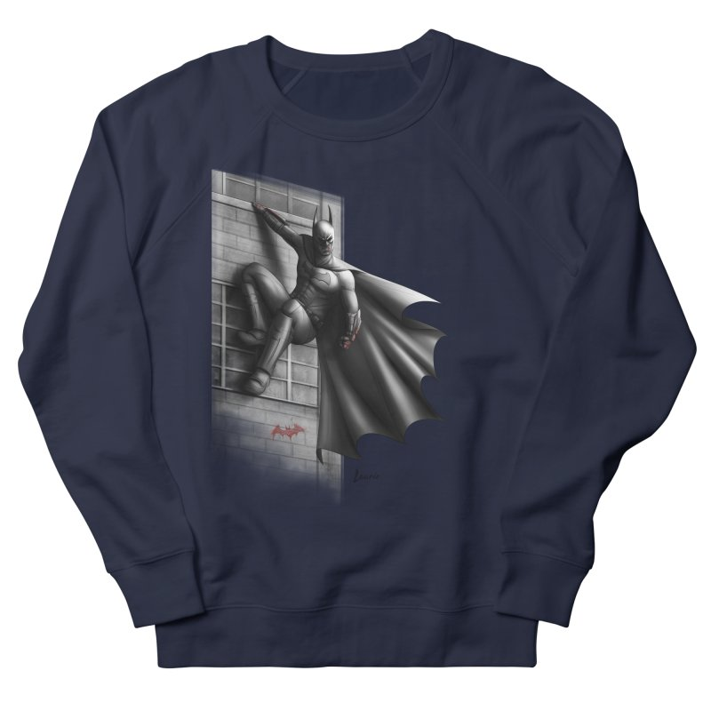 Batman - 50 Shades of Arkham Men's French Terry Sweatshirt by Laurie's Artist Shop
