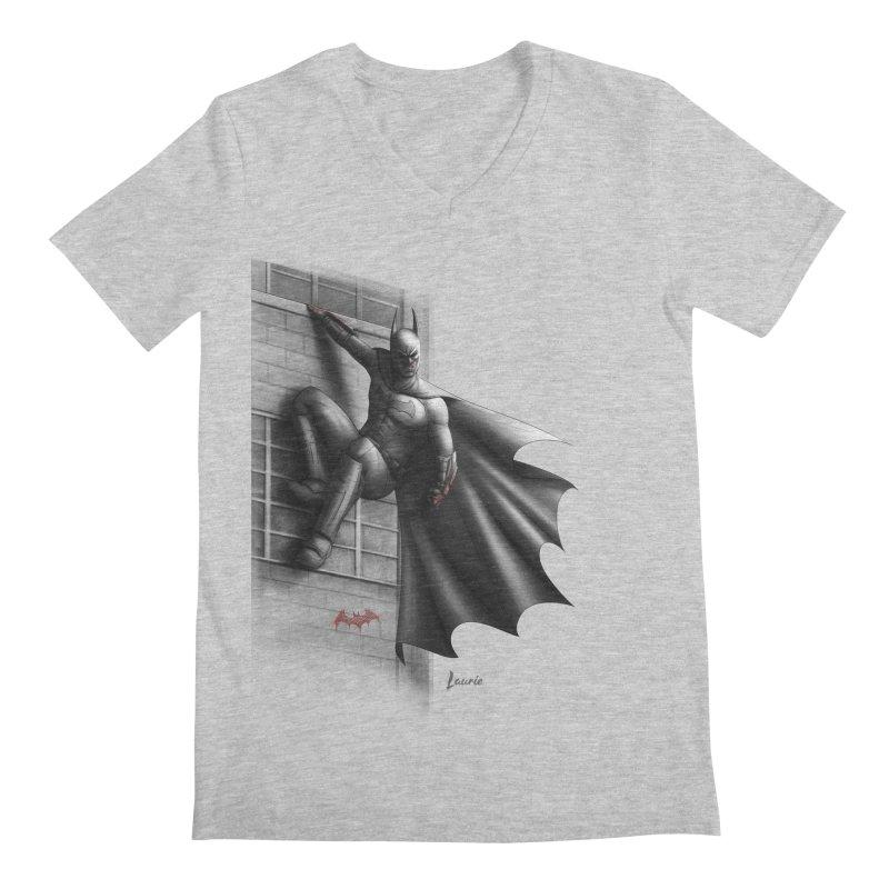 Batman - 50 Shades of Arkham Men's Regular V-Neck by Laurie's Artist Shop