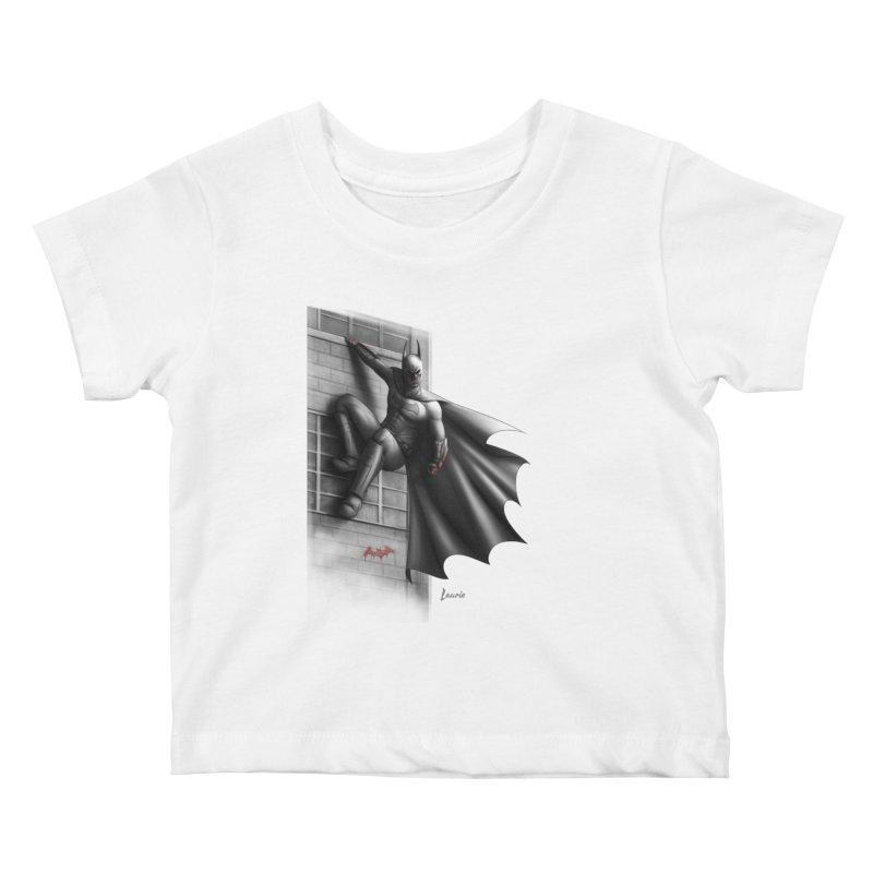 Batman - 50 Shades of Arkham Kids Baby T-Shirt by Laurie's Artist Shop