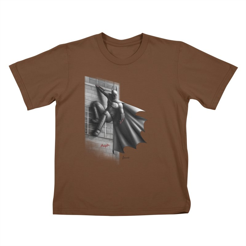 50 Shades of Arkham Kids T-shirt by Laurie's Artist Shop