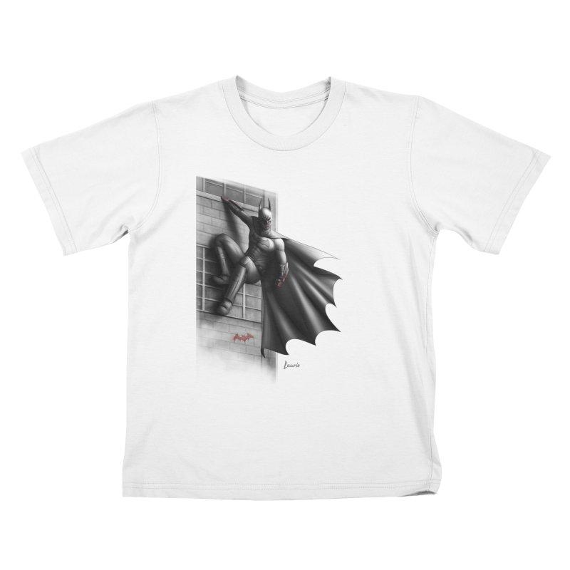 Batman - 50 Shades of Arkham Kids T-Shirt by Laurie's Artist Shop