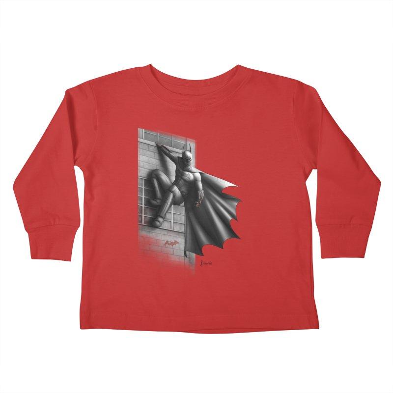 Batman - 50 Shades of Arkham Kids Toddler Longsleeve T-Shirt by Laurie's Artist Shop