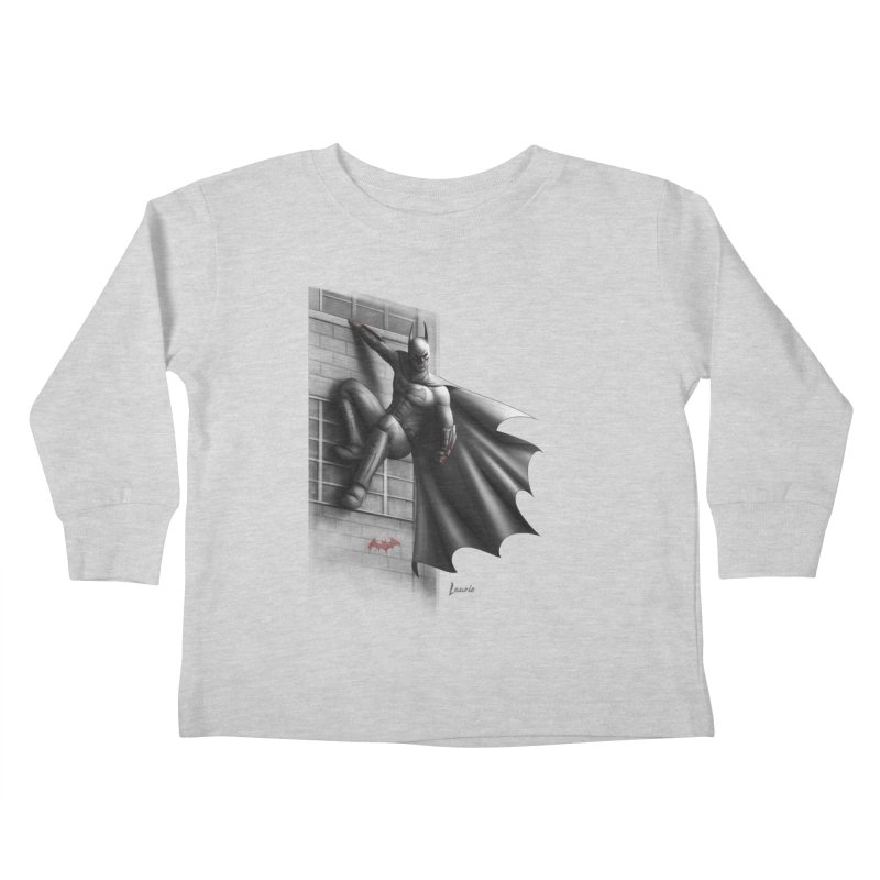 Batman - 50 Shades of Arkham Kids Toddler Longsleeve T-Shirt by Laurie's Artist Shop